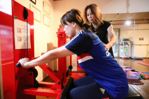 国際特許を取得のマシンで効率良く下半身をトレーニング